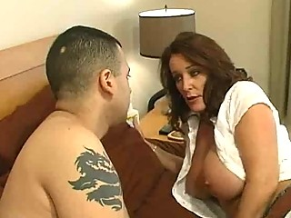 older bitch with big bazookas gets a bedroom d