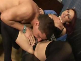 mature italian secretary trades giving head and