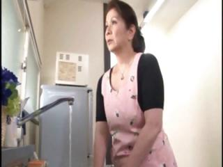 japanese older housewife does an old stud and a