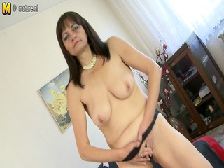 hirsute housewife mother playing with herself