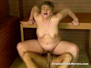 ribald granny public pounding