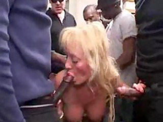 french busty blond mature gangbang