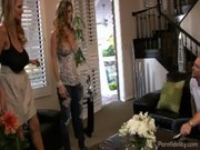 wonderful breasty wife brings a bitch home for