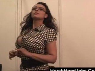 aged secretary smacking a penis