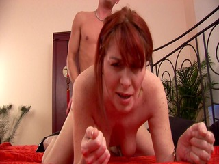 mature redhead begs for greater amount -