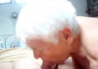 grandma sucks her favorite cock