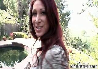 sexy redhead slut gets horny sucking part2