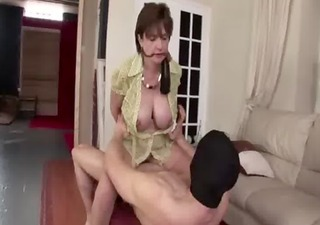 mature stockings chick acquires a spunk fountain