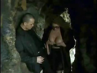 saggy unshaved doxy in double act