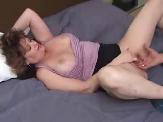 breasty older amateur with younger guy