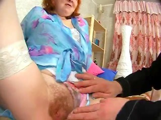 russian granny receives her butt licked