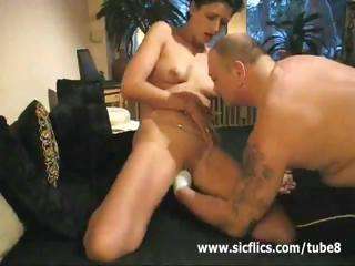double feature of a aged brunette getting screwed