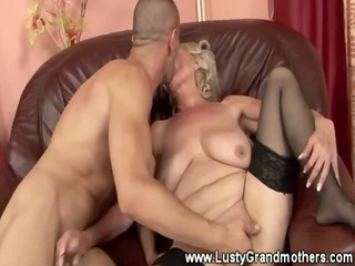 mature granny in nylons drilled by this lulcky