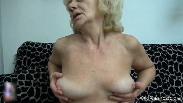 nasty old woman goes mad rubbing part6
