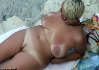 sexy older in nature beach