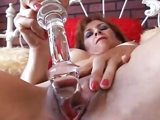 marvelous mature redhead is feeling horny