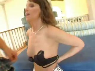sexy dark brown mother i in nylons blows and