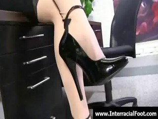 foot fetish - sexy sweethearts fucking cock with
