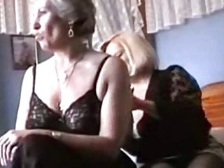 grannies play in lingerie and nylons