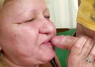 wife busts her man fucking massive granny