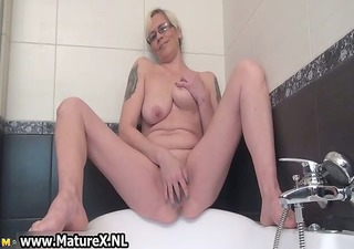 horny housewife spreading and fascinating