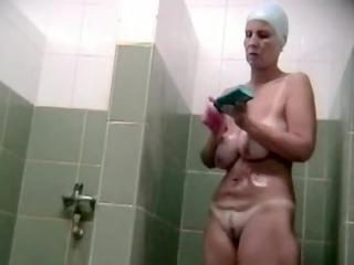 hidden voyeur spy camera aged mom spied in shower