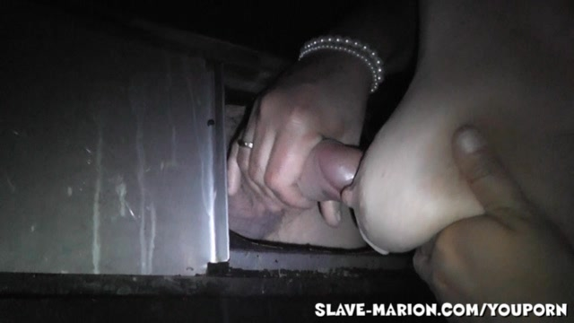 golden-haired amateur at the gloryhole anew