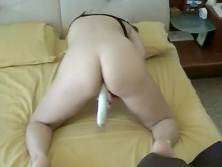 caught mom masturbating with sex toy at home