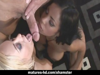 hot latin chick milf in three-some anal fuckfest