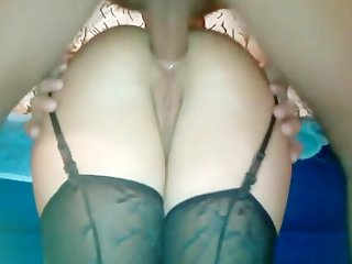horny moaning babe anal fucking from behind and