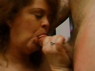 fat mature redhead sucks big pecker