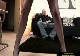 mature stockings getting plowed from behind
