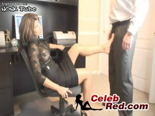 sexy milf secretary humiliate her juvenile