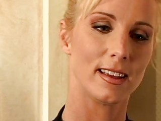 gorgeous golden-haired milf with shaggy bawdy