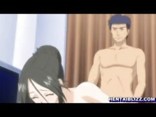 mamma anime with bigtits three-some screwed and