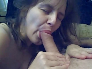 mature wife fucks sucks and swallows !