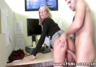 two office skanks demand hard fucking from two