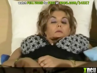 master blonde mature receives her hairy pussy