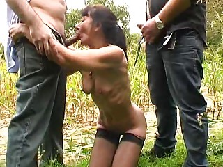 french older outdoor gangbang