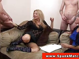 cfnm milfs surrounded by wanking fellows