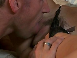 mature tattooed stud bangs black haired momma in